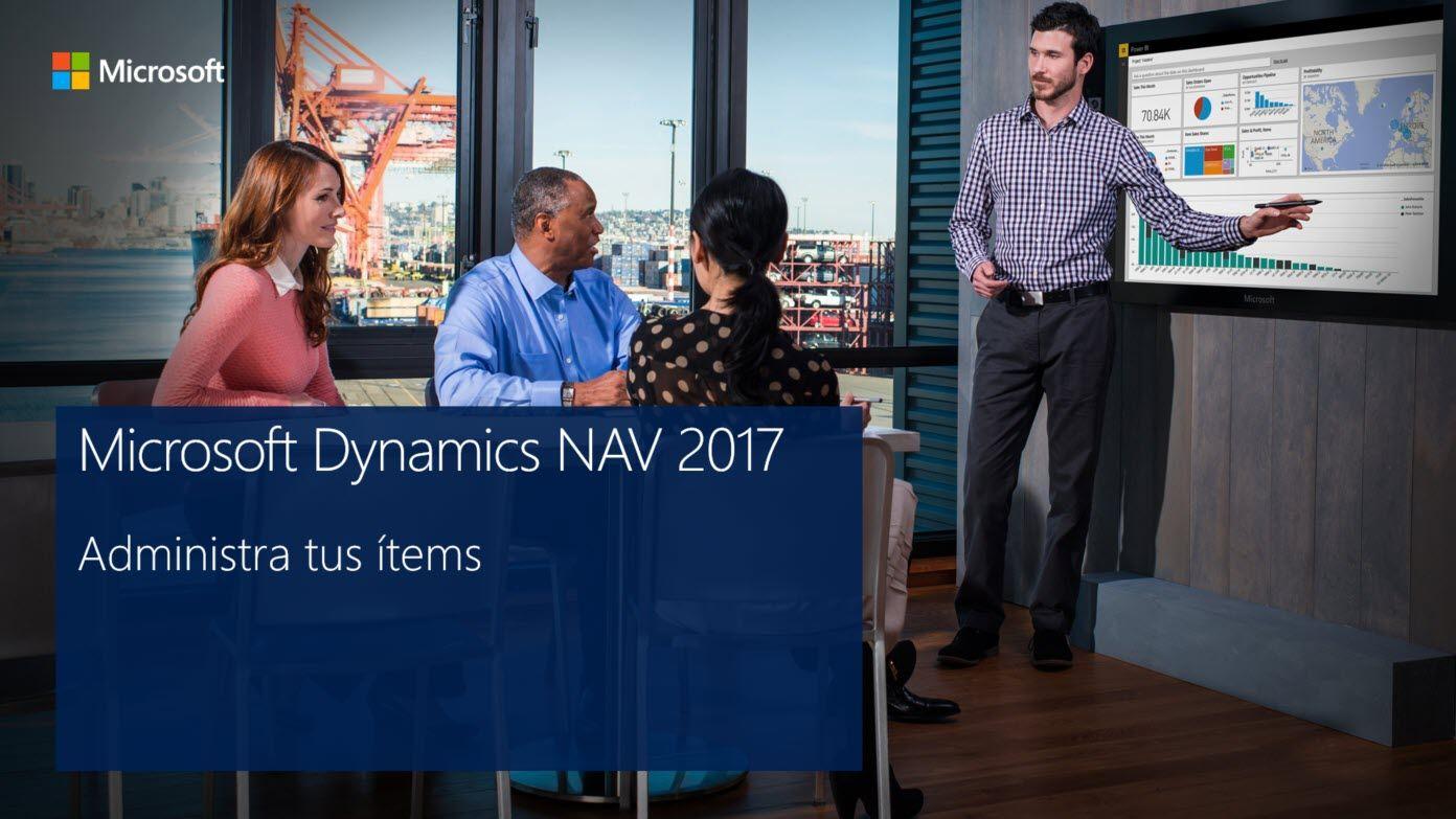 administra ítems Dynamics NAV