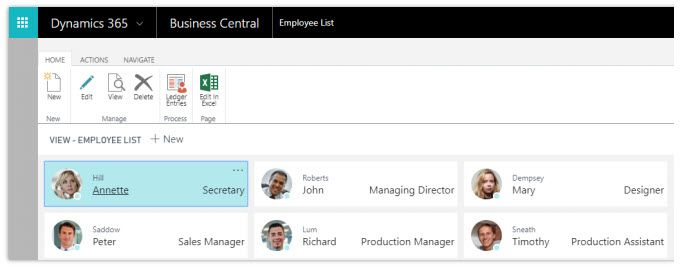 Recursos Humanos - Dynamics 365 Business Central
