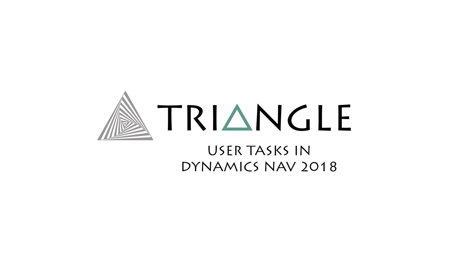 user tasks Dynamics NAV 2018