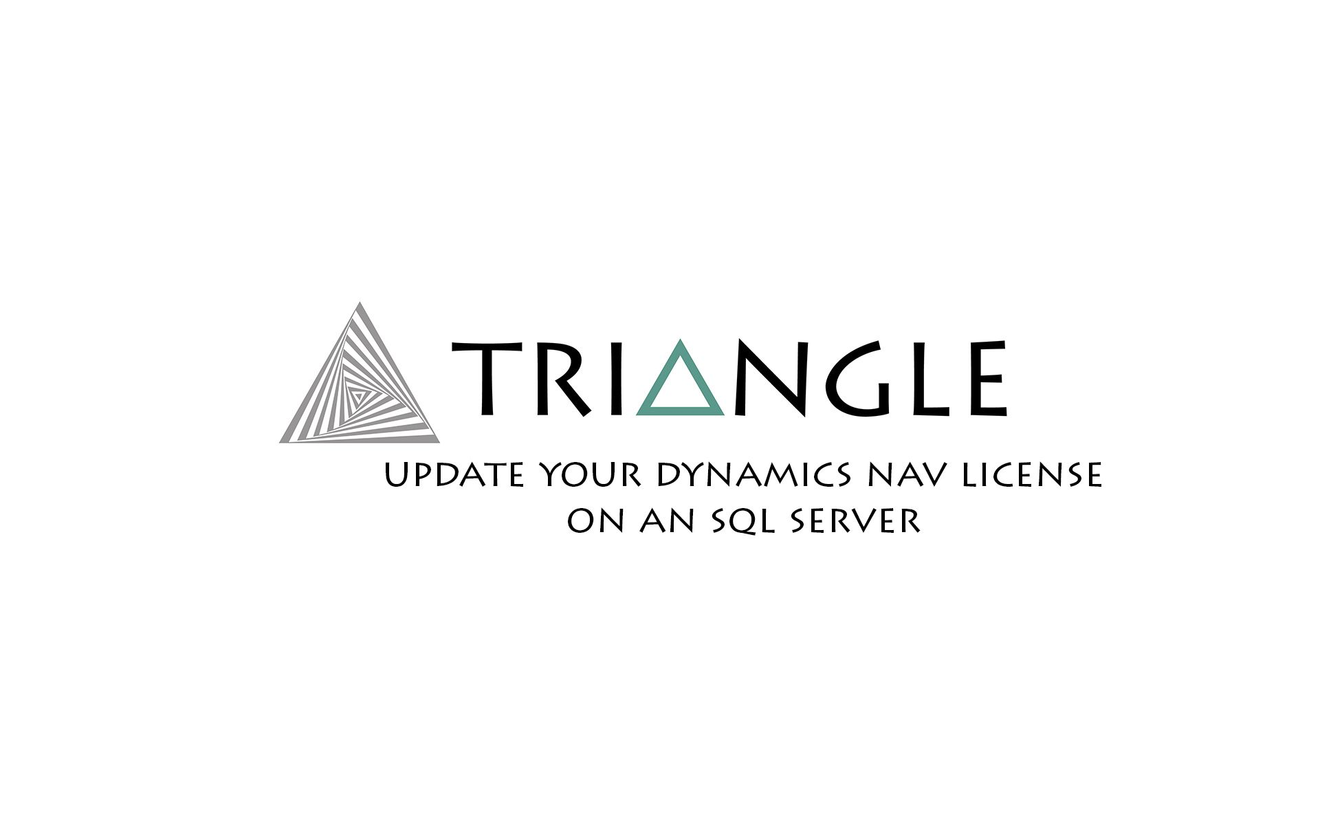 Update Dynamics NAV license SQL Server