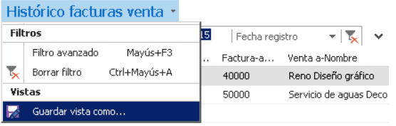 Guardar visualización ventana Dynamics NAV 2