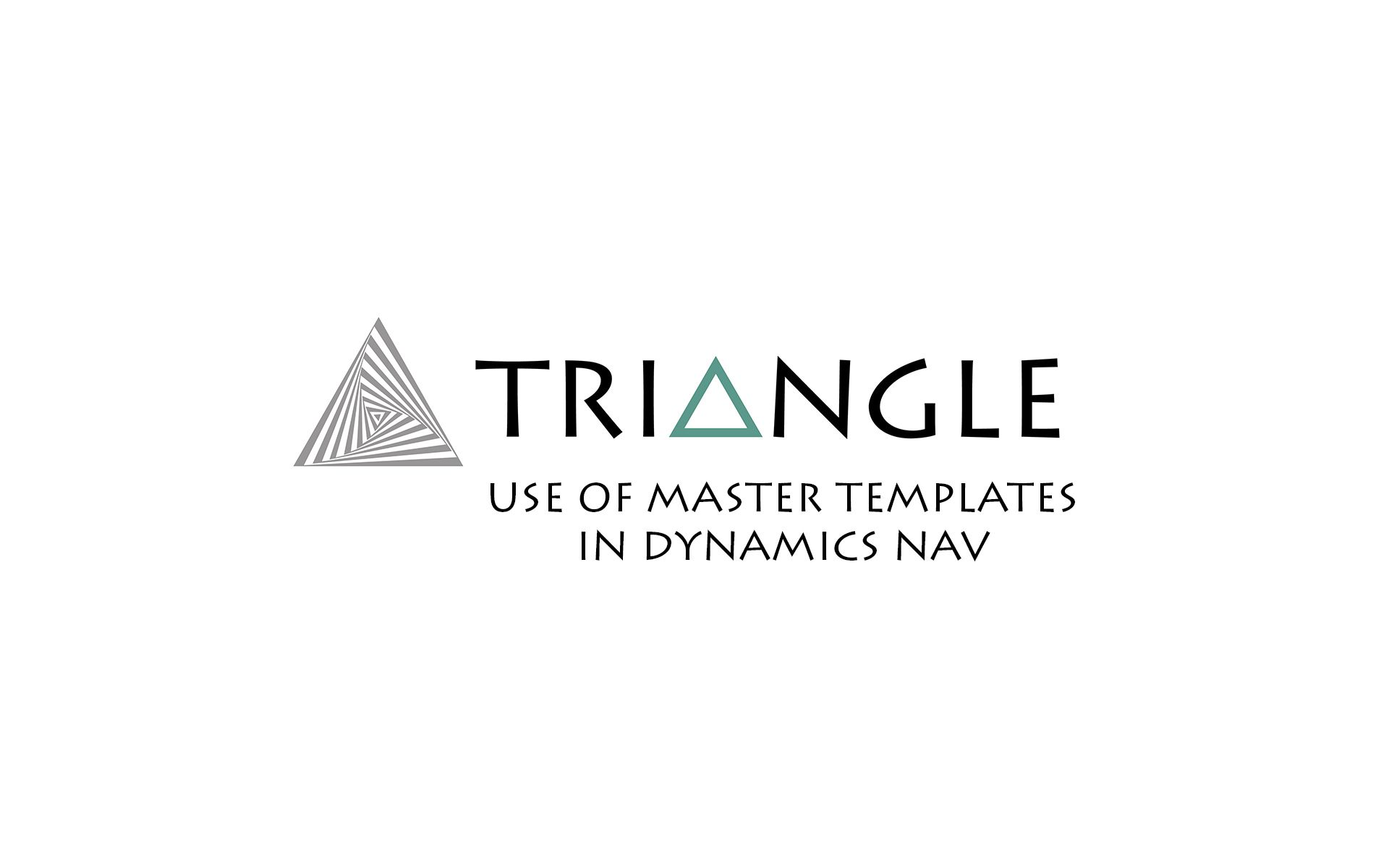 Use of master templates in Dynamics NAV