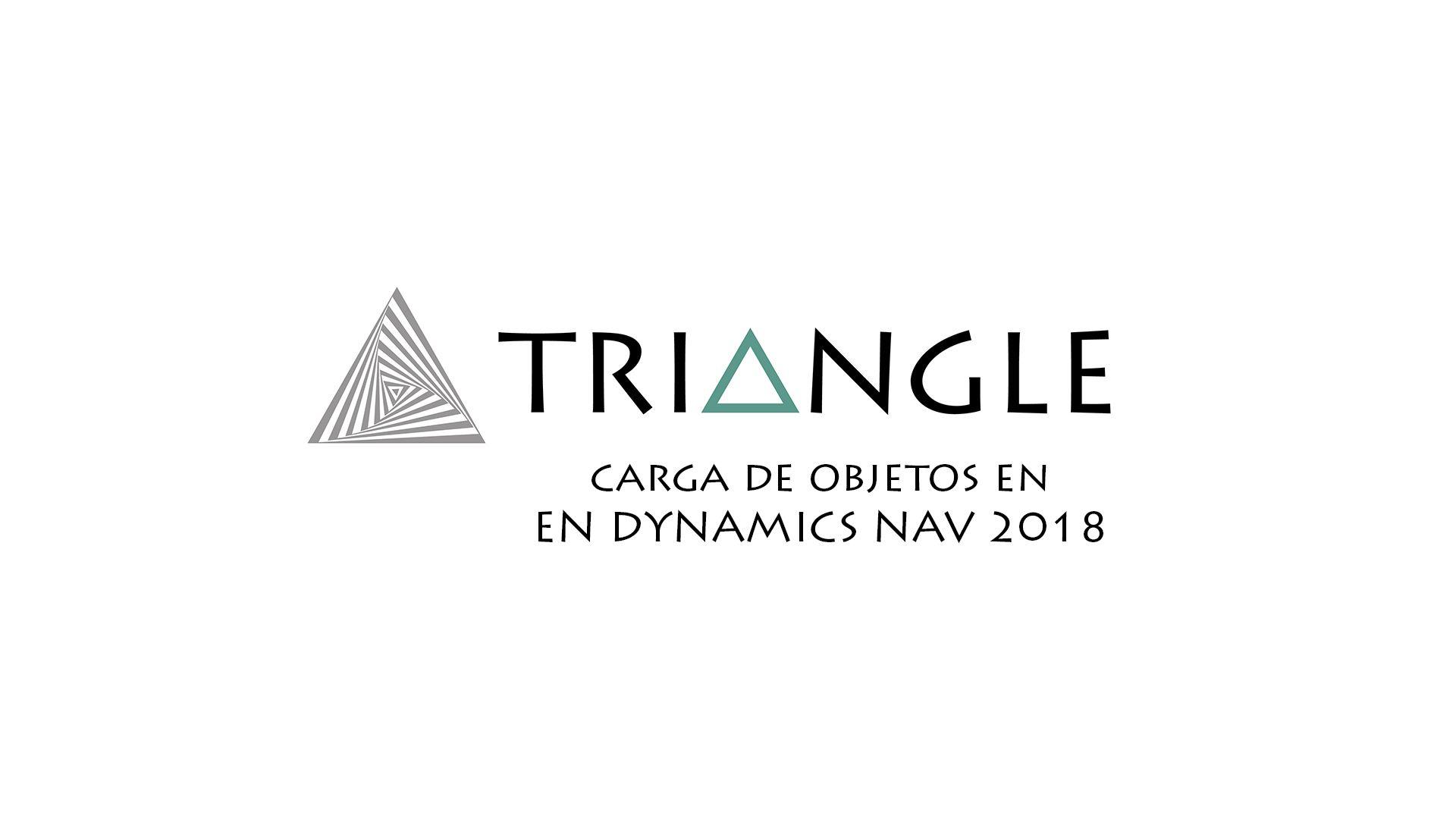 Carga de objetos en Dynamics NAV 2018