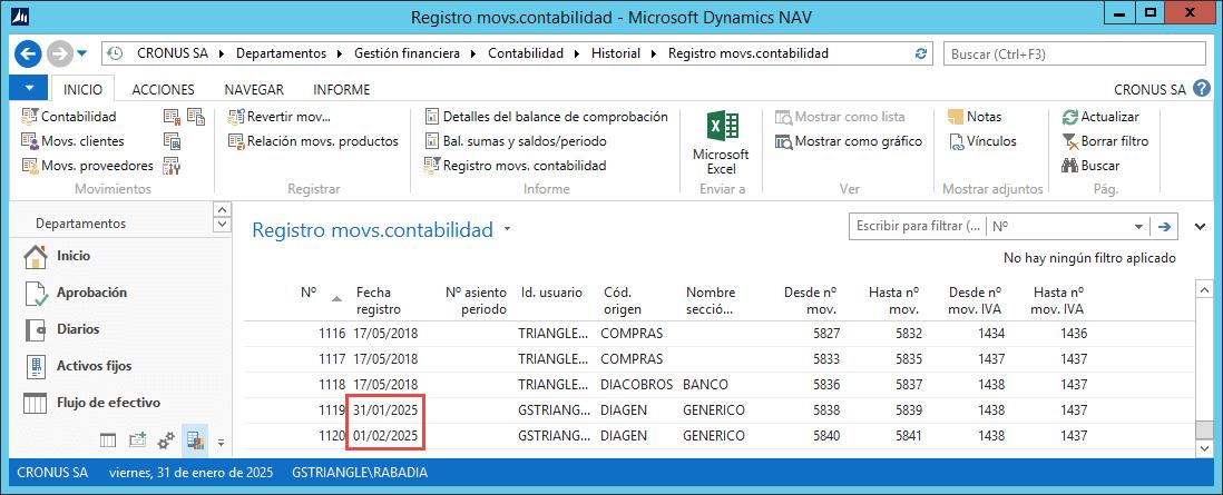 Diarios Periodicos Dynamics NAV 3