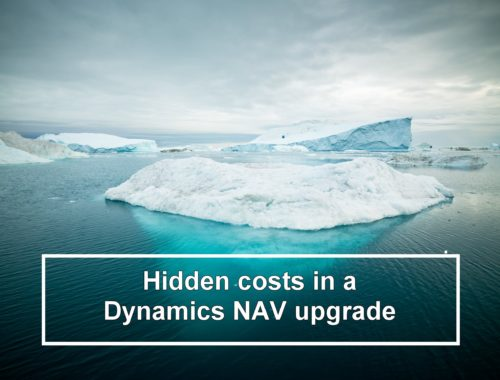 Hidded costs Dynamics NAV upgrade