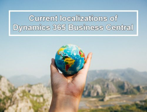 Current locations Dynamics 365 Business Central
