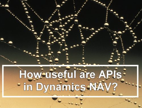 How Userful Are APIs in Dynamics NAV