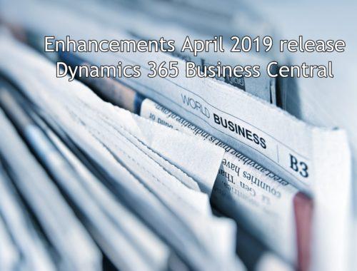 enhancements april 2019 relase business central
